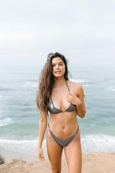 Shop all of our cheeky bikinis and swimwear in our shimmery shark inspired grey solid fabric, Mako. Bikini Tops, Thong Bikini, Free Spirited Woman, California Dreamin', Designer Swimwear, Bikini Fashion, Hawaii