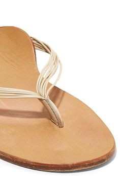 The Row - Casablanca Leather Sandals - Neutral - IT35