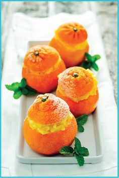 Clementine Sorbet by todaysnest: This little serving of sorbet is bursting with flavor! #Sorbet #Clementine
