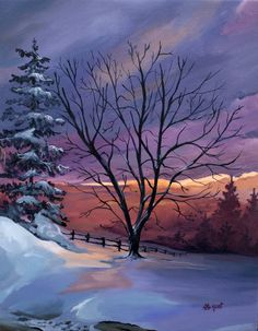 Winter scene by Hellien.deviantart.com on @DeviantArt