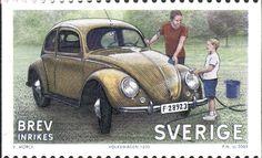 "Sweden Domestic mail ""Classic Cars"" 2009. ""Wolksvagen 1200"" Piotr Naszarkowski sc."