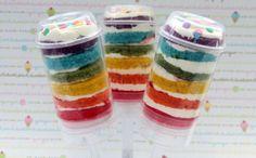 rainbow cake push pops