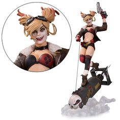 DC Bombshells Harley Quinn Deluxe Statue - DC Collectibles - Batman - Statues at Entertainment Earth