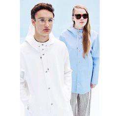 Stockholm White & Light Blue Black Raincoat, White Light, Light Blue, Vinyl Raincoat, Stockholm, Toddler Girl, Menswear, Petite Fille