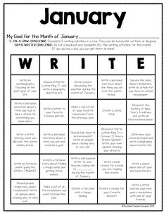 Monthly Writing Prompts for the Entire Year - Bildungsniveau Writing Prompts For Kids, Book Writing Tips, English Writing Skills, Writing Words, Writing Lessons, Writing Workshop, Teaching Writing, Essay Writing, Story Writing Ideas