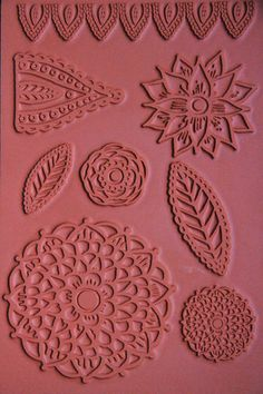 doodle flowers rubber stamp sheet by Alisa Burke