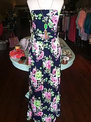 Navy Floral Maxi Dress. Colors are amazing!
