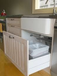 Under Sink Trash Can Pull Out Cabinet Double Bin Tilt Stainless Steel Kitchen