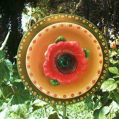 Glass Plate Flower 5