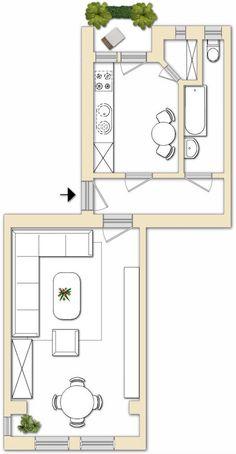 Leerstehende 1-Zimmer-Wohnung mit Balkon in Berlin Tegel