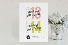 Old New Year Business Holiday Cards by Snow + Ivy for Minted. #2013 #Corporate