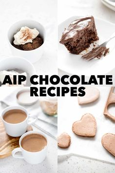Just because chocolate isn't allowed during the elimination stage of the autoimmune protocol, doesn't mean that you can't indulge that chocolate craving. Carob makes a fine substitute in these AIP 'chocolate' recipes. Paleo Dessert, Healthy Dessert Recipes, Real Food Recipes, Delicious Desserts, Paleo Food List, Paleo Diet, Chocolate Mug Cakes, Chocolate Recipes, Paleo Banana Bread