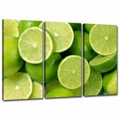 Lime Green Kitchen Art Canvas Pictures