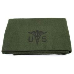 """U.S. ARMY MEDICAL BLANKET Beautiful reproduction of the U.S. Army medical wool blanket. A very nice 80% wool, 4.4lbs and measures 62""""x90"""". They are so soft to the touch, just an incredible high quality blanket from Swiss Link's classic wool line."""