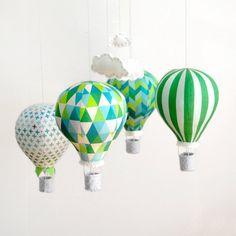 ~ Wishlist ~  A whimsical mobile to hang over the cot. Something like this Emerald City Hot Air Balloon Mobile.