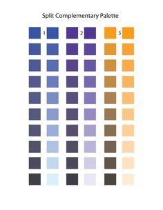 46 best near split complement color schemes images in - Split complementary colors examples ...