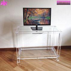 16 best acrylic tv stands mobili tv in plexiglass images on pinterest in 2018 tv stands - Porta tv plexiglass ...
