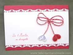 Felicitări quilling 1 Martie 8 Martie, Paper Quilling, Perfect Party, Baba Marta, Crafts For Kids, Projects To Try, Place Card Holders, Spring, Cards