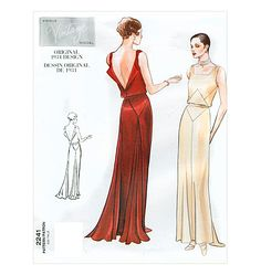 vintage vogue pattern... drooling over the seam details and open back.