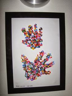 Krea Krumspring: DIY Perle-håndaftryk