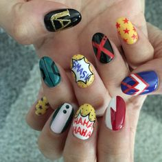 Like can I have these nails? Cute Nail Art, Cute Nails, Cute Nail Designs, Acrylic Nail Designs, Maquillage Cosplay Anime, Hair And Nails, My Nails, Anime Nails, Boko No