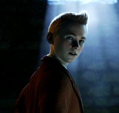Interesting lighting here. He looks a little saintly, doesn't he?