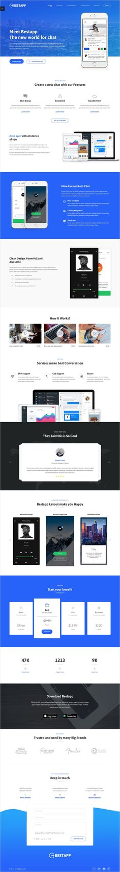 Bestapp is a premium design #bootstrap #template for multipurpose #startups landing page website with 4 different homepage layouts download now➩ https://themeforest.net/item/bestapp-premium-app-showcase-landing-page/17809528?ref=Datasata