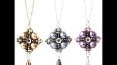 """beading4perfectionists oct 2014 - YouTube - Kieshna Jewellery tutorial """"down town necklace"""""""