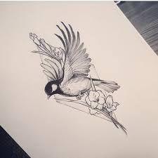 Bildergebnis für sketch bird tattoo