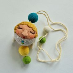 Angel of Love and Joy, needle felted mobile