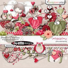 """Photo from album """"i°heart°u"""" on Yandex. Scrapbooking Freebies, Free Digital Scrapbooking, Digital Scrapbook Paper, Digital Papers, Fun Arts And Crafts, Felt Crafts, Paper Crafts, Heart Template, Flower Template"""