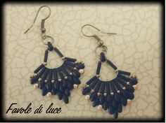 Flabellum Earrings (tutorial by Off The Beaded Path http://youtu.be/7_prlNJXpmM)