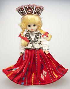 Nīca Latvian folk costume doll.