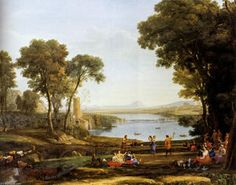 paysage avec l' mariage de isaac et `rebekah` - (Claude Lorrain)