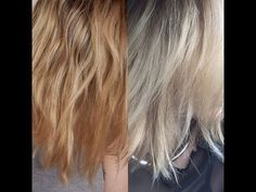 How To Tone Brassy Blonde Hair - DEMO with Wella T18 + T11 - YouTube