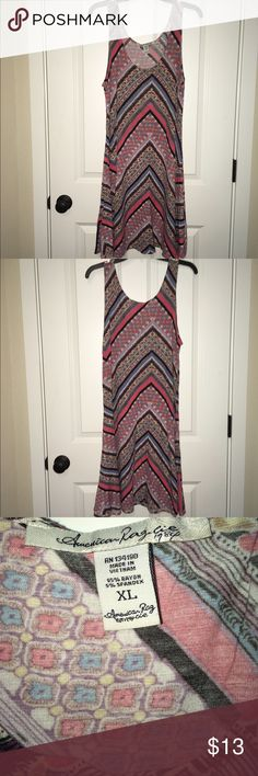 American Rag Multi-Colored Dress Size XL American Rag Multi-Colored Dress Size XL! This is a such a fun beautiful dress that can be worn any season of the year! With or without a Cardigan!! In good condition! Minimal piling! Dress still has so much life in it! No Trades! No Merc! Open to all offers!!! American Rag Dresses