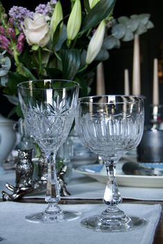 Vintage Sèvre 1920's Goblets - Decorative Collective