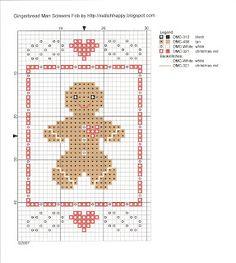 Gingerbread Man Scissors Fob