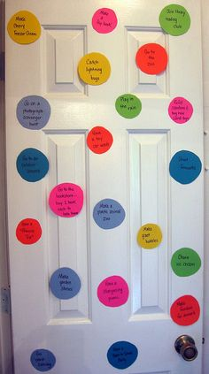Door Dots - A summer to-do list made pretty and fun