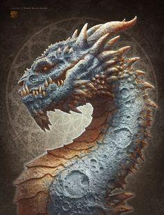 Moon Dragon by kerembeyit on deviantART