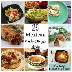 25 Mexican Crockpot Freezer Meals + Prepare 6 of them in 30 Minutes