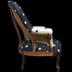 Obsessed - Deconstructed antique polka dot armchair