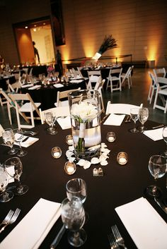 Classic Black & White Wedding Reception