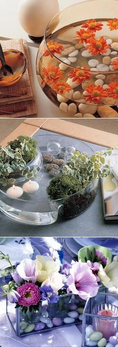 Ideas for decorating with pebbles