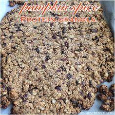 Low Fat Pumpkin Spice Protein Granola
