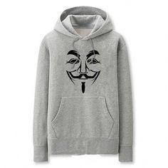 V for Vendetta hooded sweatshirt for men cool Mask printed pullover