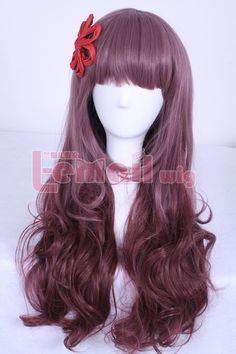60cm Charm Zipper Lolita Curly Mix Brown Anime Cosplay wig CB54