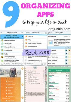 Favorite Organizing Apps to Keep Your Life on Track at I'm an Organizing Junkie blog
