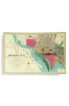 Ben's Garden 'Washington DC Map' Decorative Glass Tray, Large available at #Nordstrom