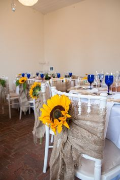 Sunflowers And Rustic Style For A Charming English Country Garden Inspired Wedding